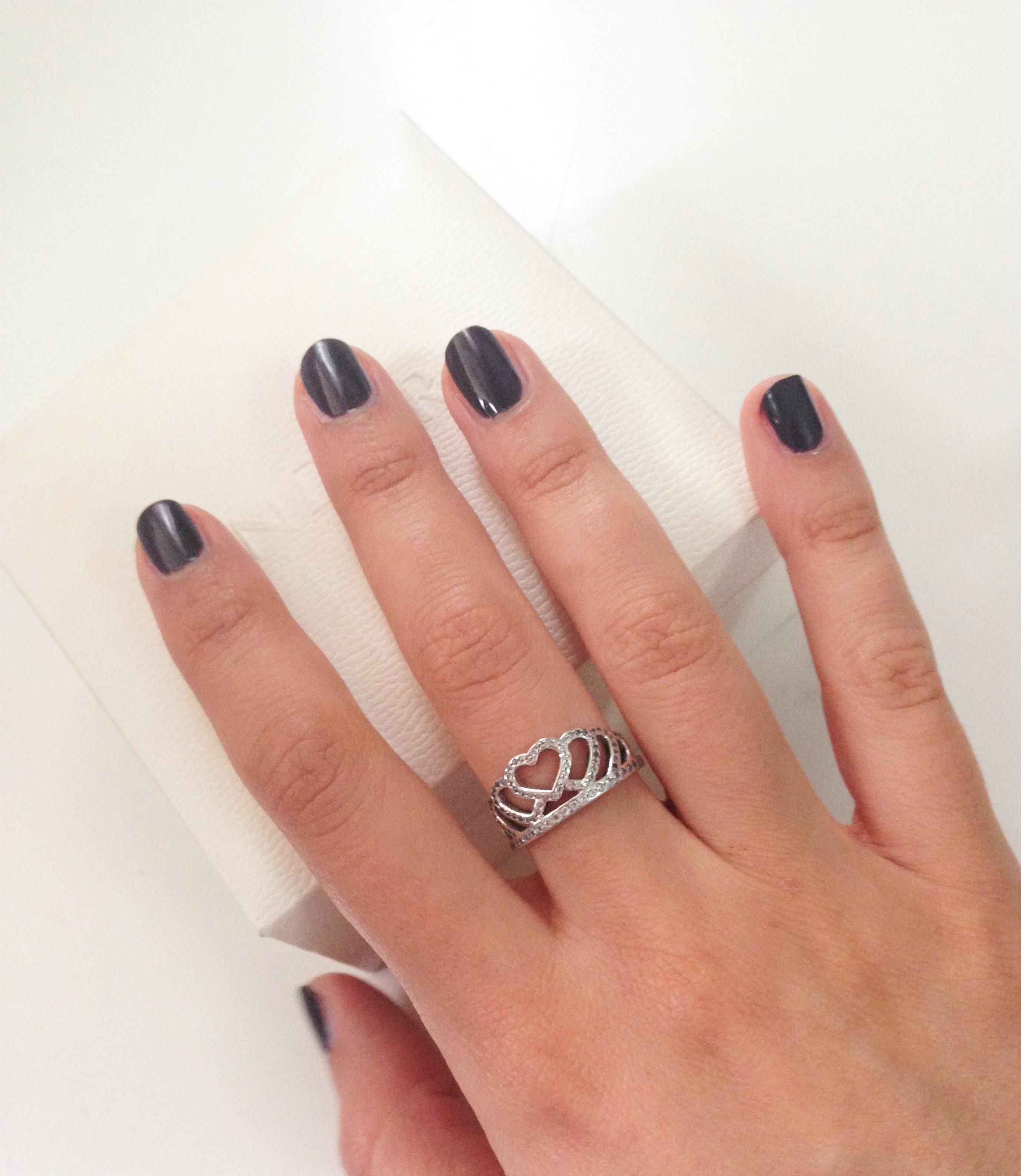 anello cuore pandora mano